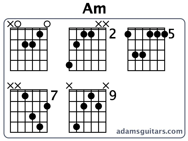 Am Guitar Chords from adamsguitars.com