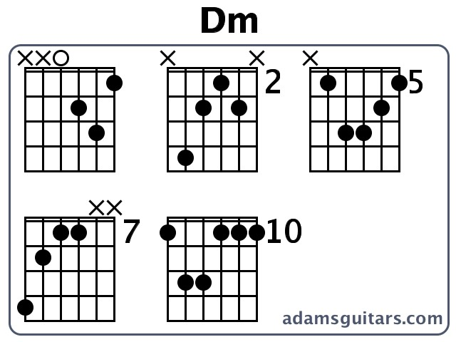 Dm Guitar Chords from adamsguitars.com