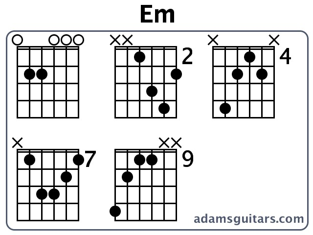 Em Guitar Chords from adamsguitars.com