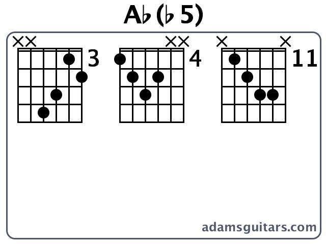 Ab(b5) Guitar Chords from adamsguitars.com