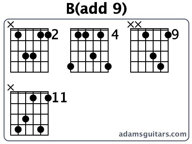 Badd 9 Guitar Chords From Adamsguitars