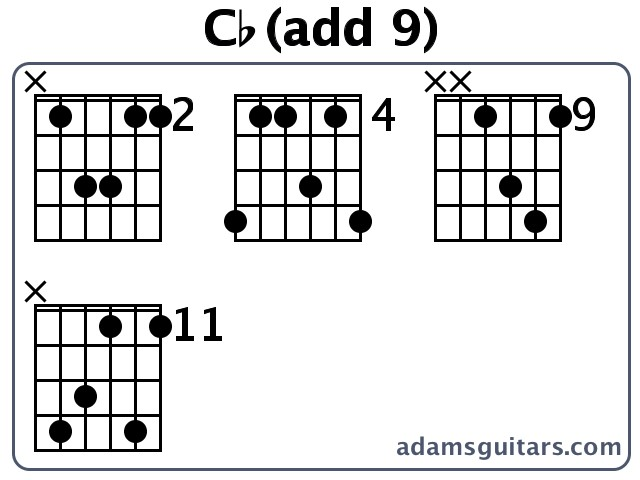 Cb(add 9) Guitar Chords from adamsguitars.com