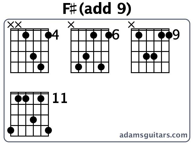 Fadd 9 Guitar Chords From Adamsguitars