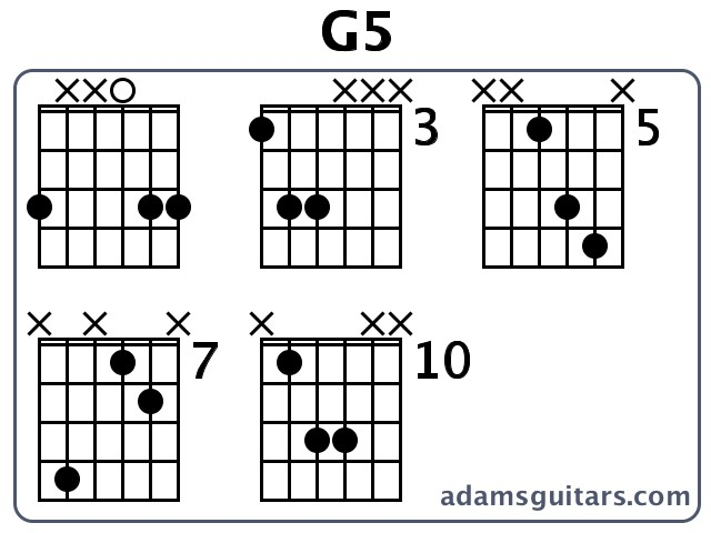 G5 Guitar Chords from adamsguitars.com