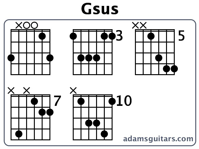 Fantastic Gsus Chord Embellishment - Beginner Guitar Piano Chords ...