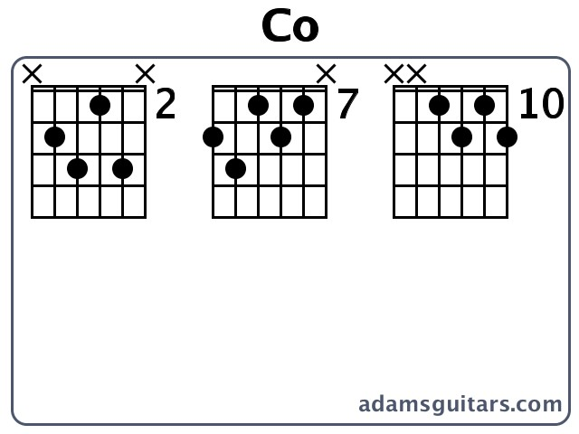 Co Guitar Chords from adamsguitars.com