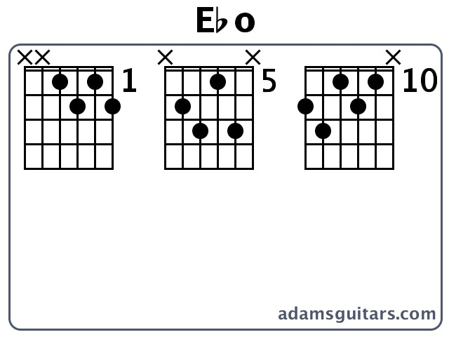 Ebo Guitar Chords from adamsguitars.com