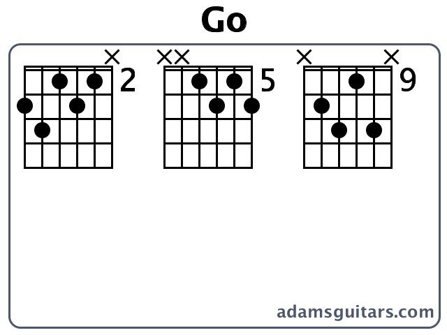 Go Guitar Chords From Adamsguitars