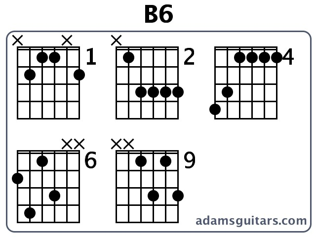 B6 Guitar Chords From Adamsguitars