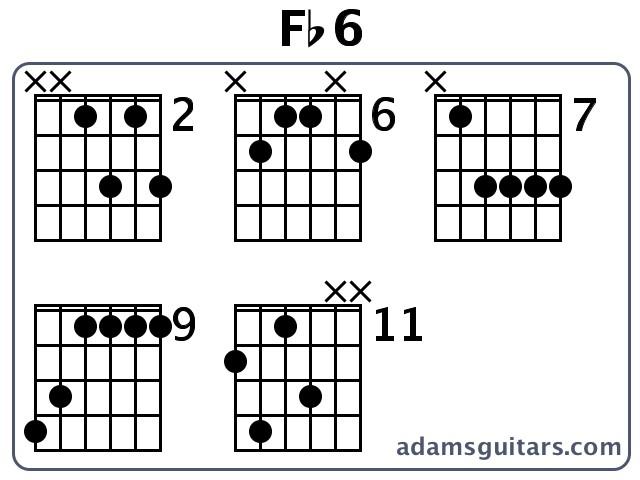 Fb6 Guitar Chords From Adamsguitars