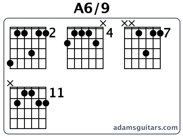 A69 Guitar Chords From Adamsguitars