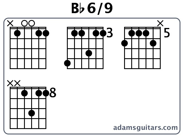 Bb6/9 Guitar Chords from adamsguitars.com