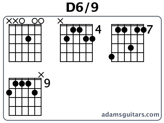D6/9 Guitar Chords from adamsguitars.com