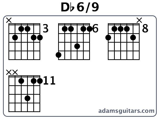 Db69 Guitar Chords From Adamsguitars