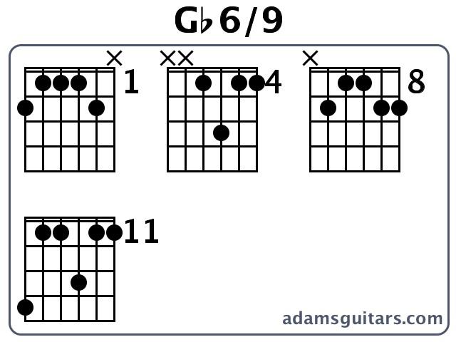 Gb6/9 Guitar Chords from adamsguitars.com
