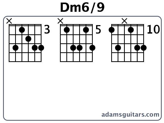 Dm6/9 Guitar Chords from adamsguitars.com