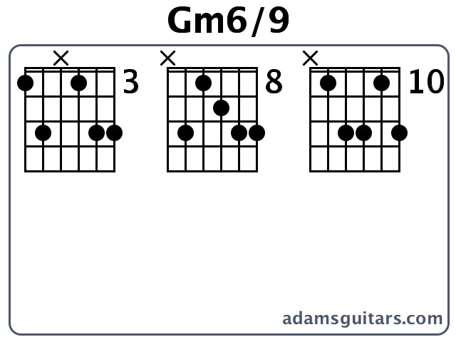 Gm69 Guitar Chords From Adamsguitars