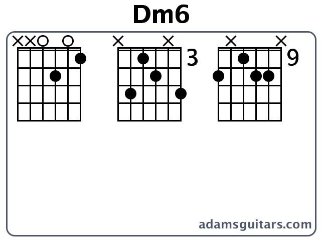 Dm6 Guitar Chords from adamsguitars.com
