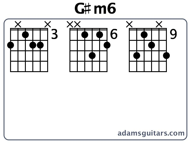G#m6 Guitar Chords from adamsguitars.com