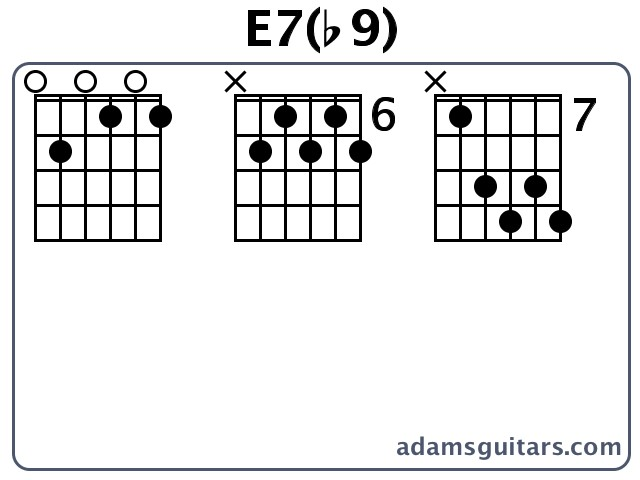 E7b9 Guitar Chords From Adamsguitars