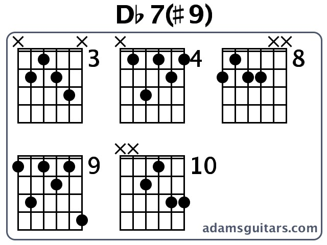 Db79 Guitar Chords From Adamsguitars