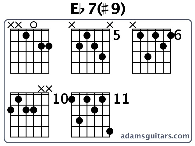 Eb79 Guitar Chords From Adamsguitars