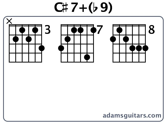 C#7+(b9) Guitar Chords from adamsguitars.com