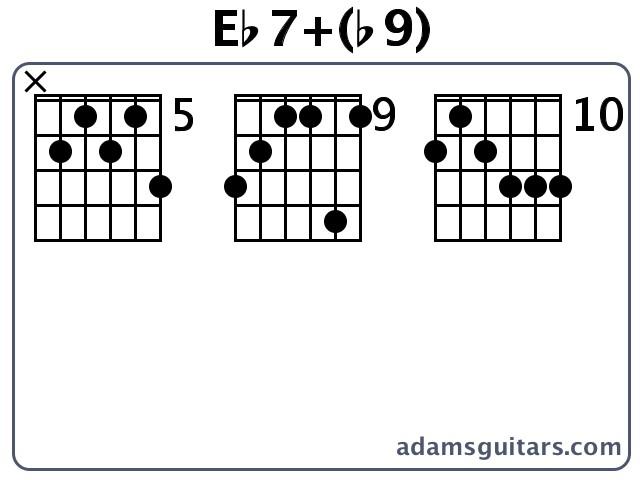 Eb7b9 Guitar Chords From Adamsguitars