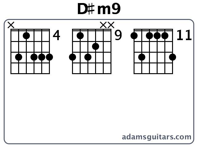D#m9 Guitar Chords from adamsguitars.com