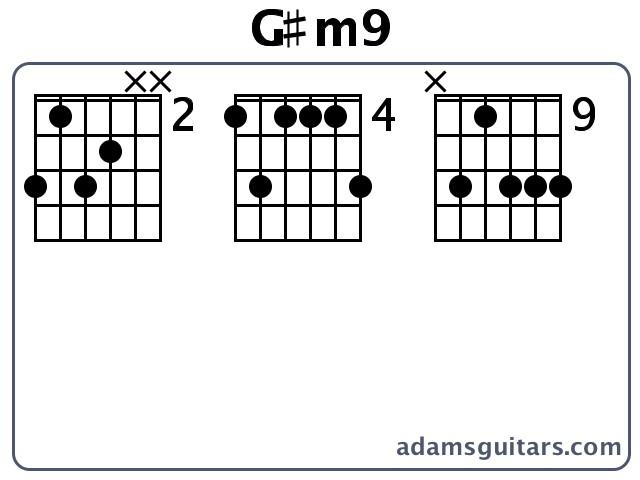Gm9 Guitar Chords From Adamsguitars