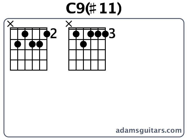 C911 Guitar Chords From Adamsguitars