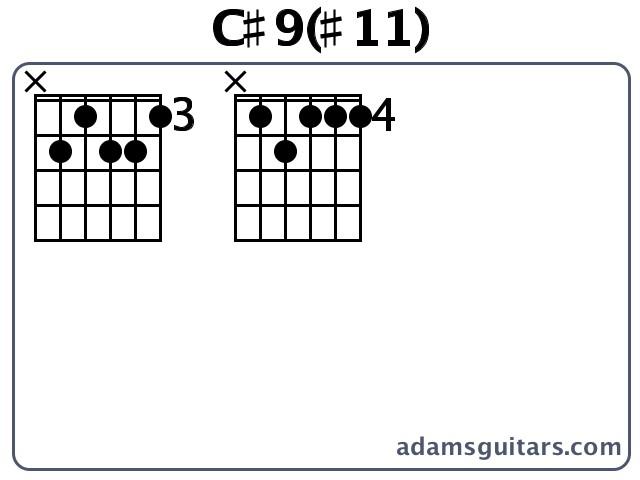 C911 Guitar Chords From Adamsguitars
