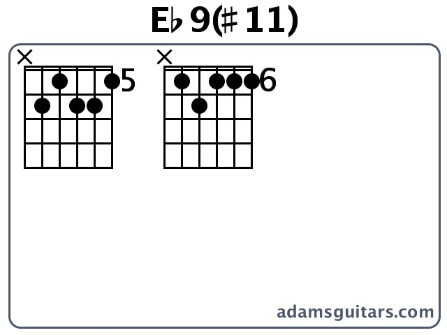 Eb9(#11) Guitar Chords from adamsguitars.com