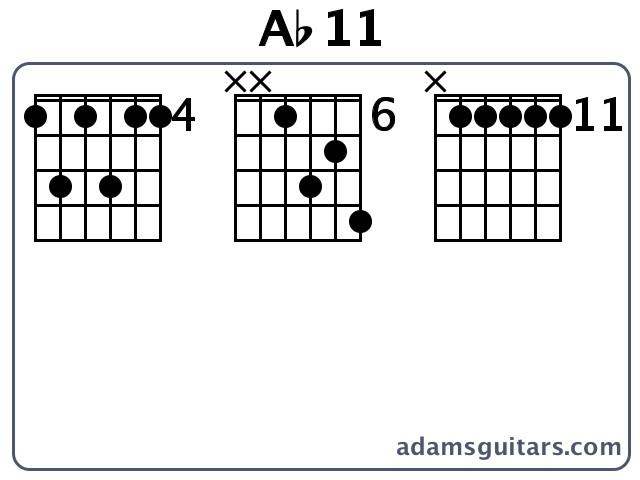 Ab11 Guitar Chords from adamsguitars.com