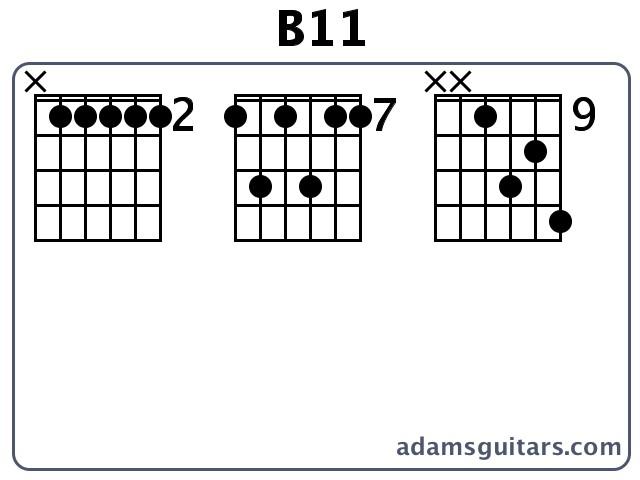 B11 Guitar Chords from adamsguitars.com