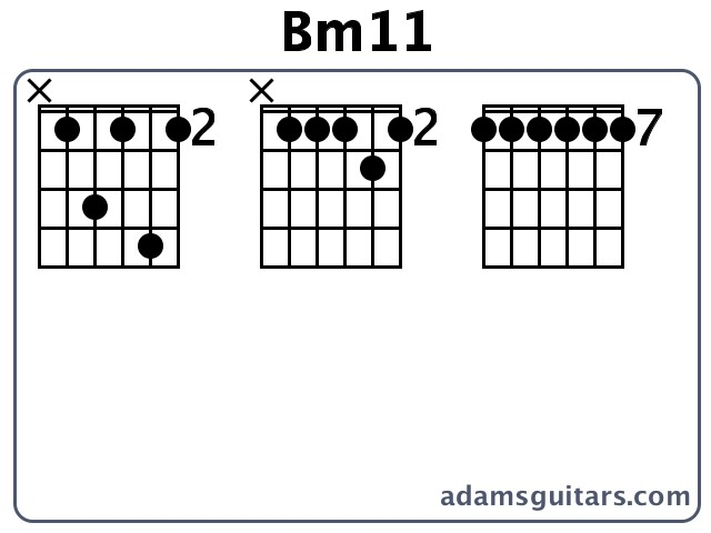 Bm11 Guitar Chords from adamsguitars.com