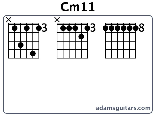 Cm11 Guitar Chords from adamsguitars.com