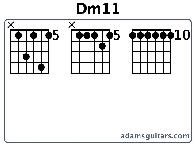 Dm11 Guitar Chords from adamsguitars.com
