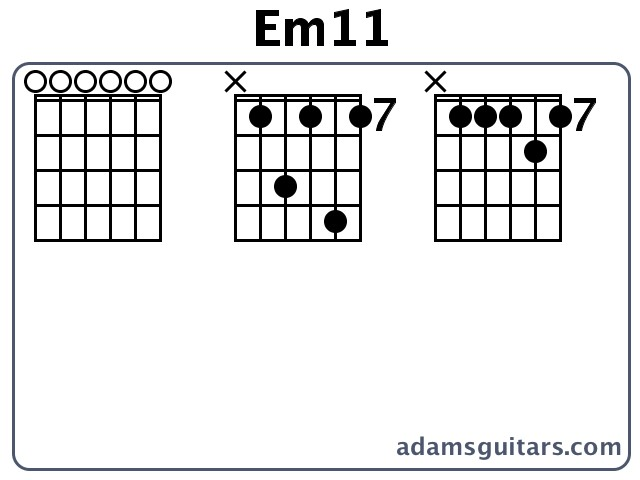 Em11 Guitar Chords from adamsguitars.com