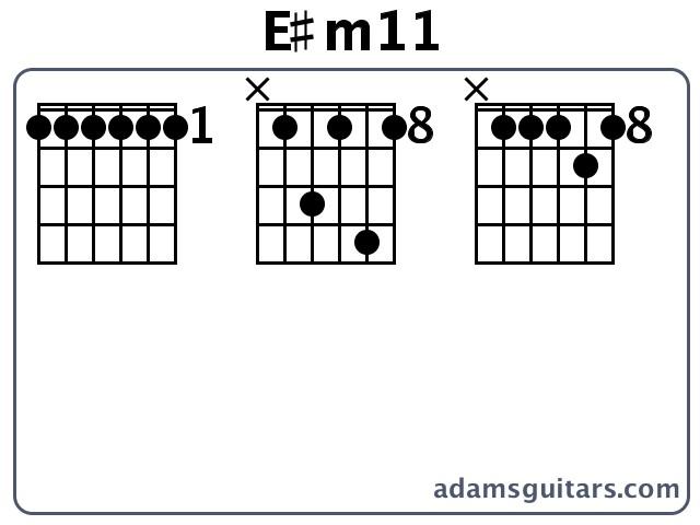 E#m11 Guitar Chords from adamsguitars.com