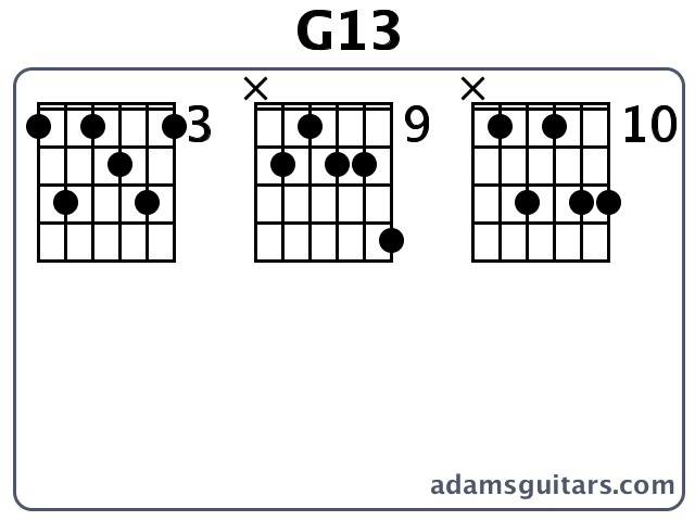 how to play g13 on guitar