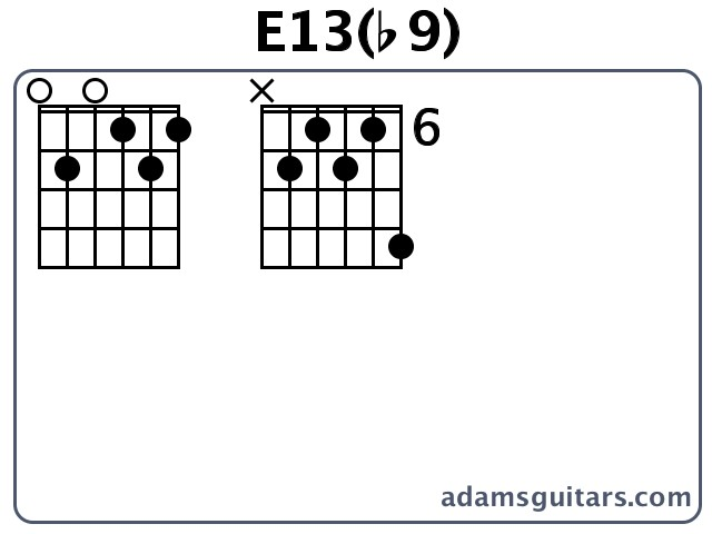 E13(b9) Guitar Chords from adamsguitars.com