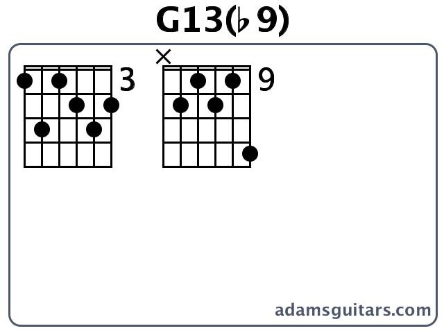 G13b9 Guitar Chords From Adamsguitars