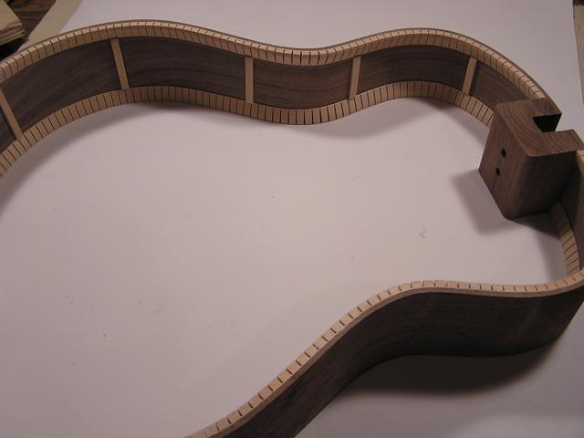 Adams Guitars SJ002 Kerfing and Braces