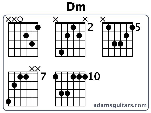 Guitar guitar chords dm : Dm Guitar Chords from adamsguitars.com