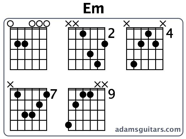 Guitar guitar chords em : Em Guitar Chords from adamsguitars.com